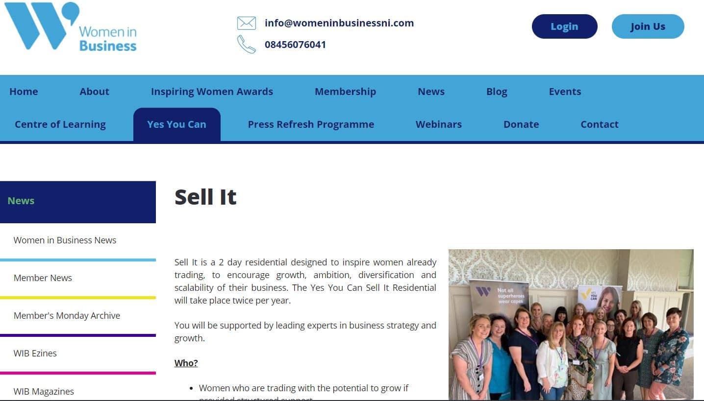 'Sell It' Programme: Women in Business